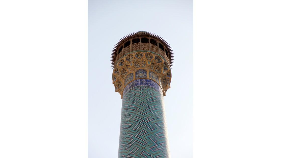 Détail minaret Ispahan