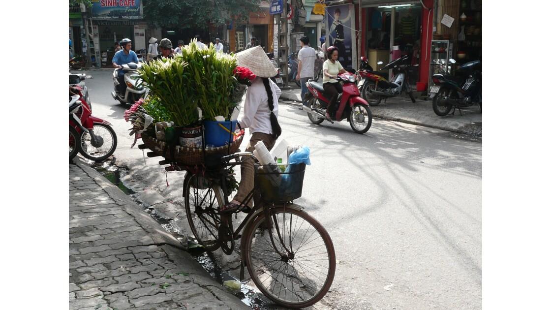 Fleuriste à bicyclette