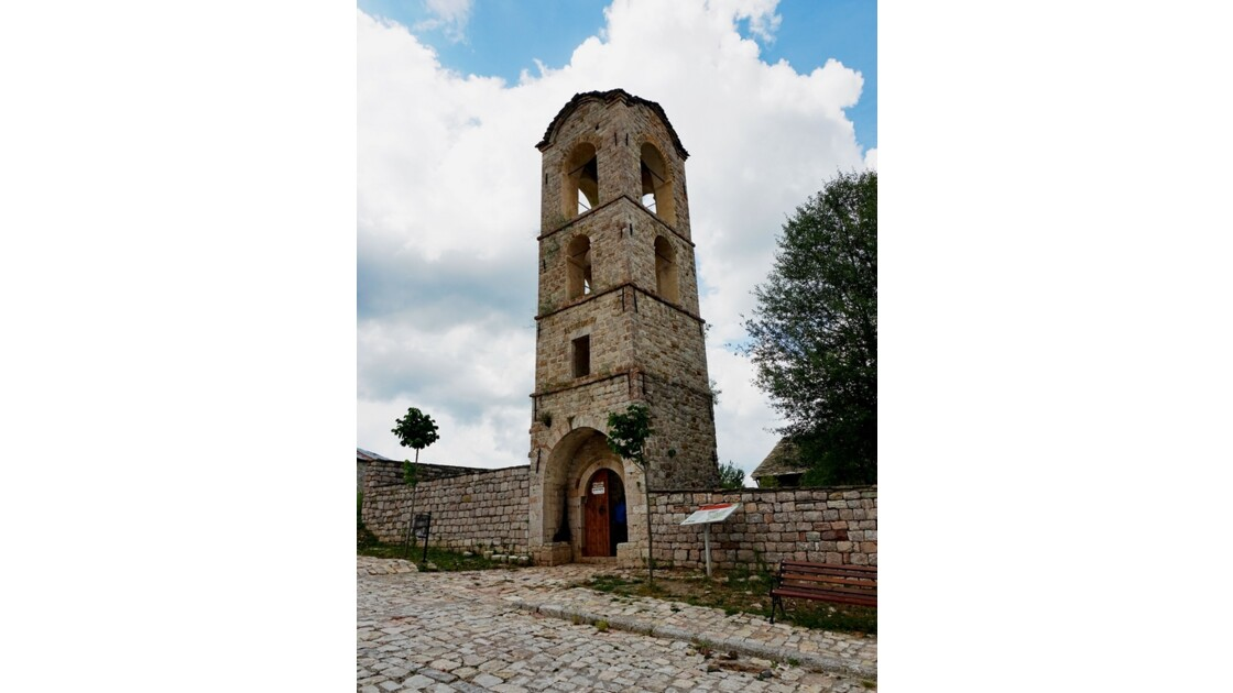 Albanie Moscopole Clocher de la Dormition de la Sainte Vierge 3