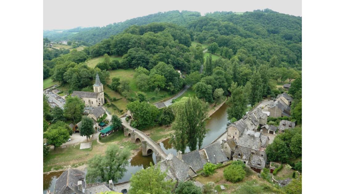 Vue sur le village de Belcastel depuis le château fort - Aveyron