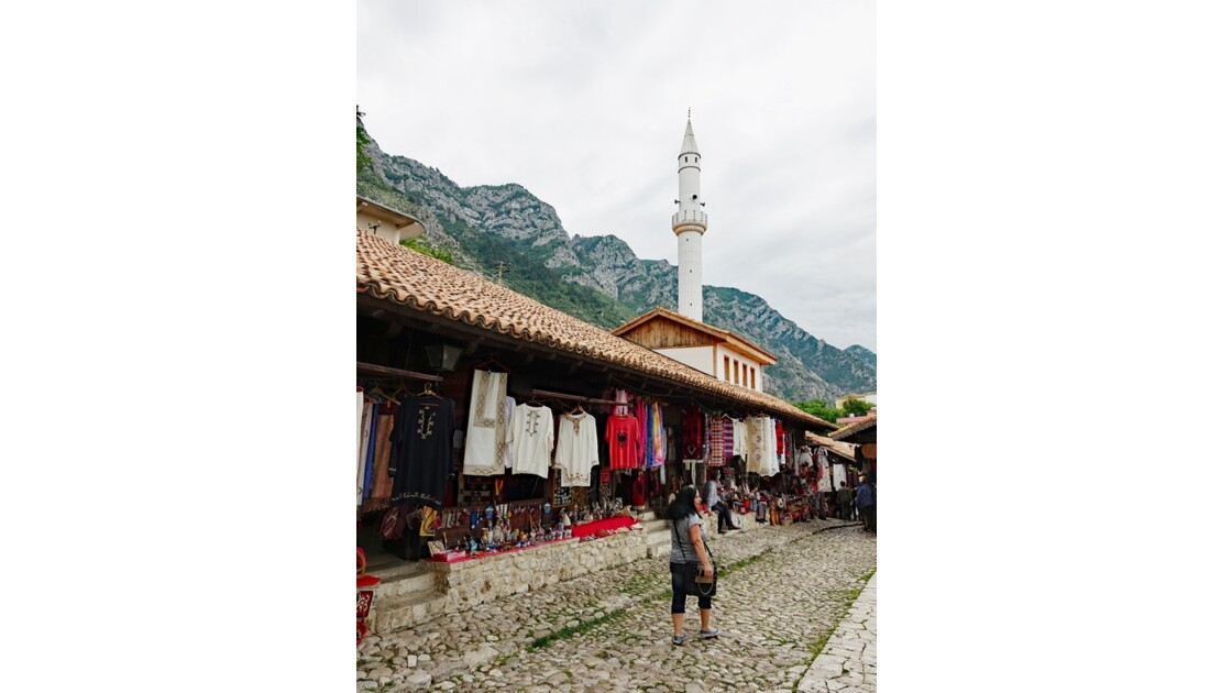 Albanie Kruja le vieux bazar 1