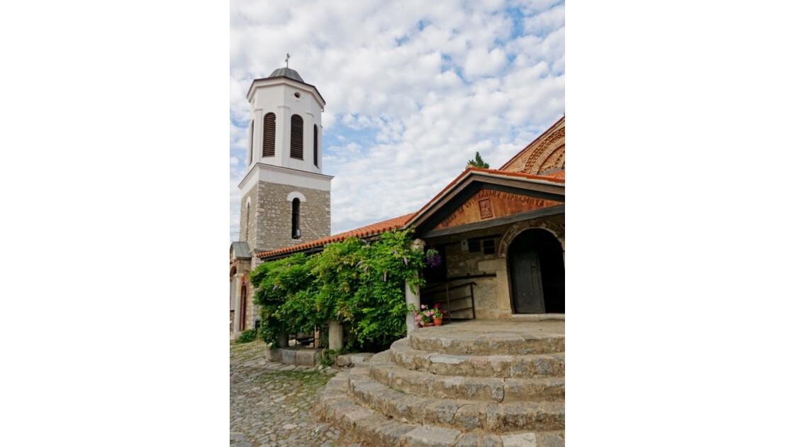 Macédoine Ohrid La tour de l'Église de Sveta Bogorodica Perivlepta