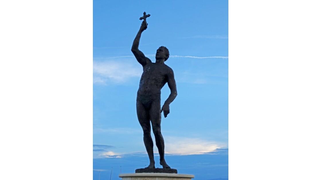 Macédoine Ohrid Statue de Cyril and Method 2