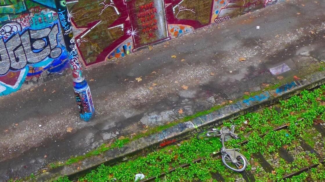 Le vélo de la Rue Beliard à Paris