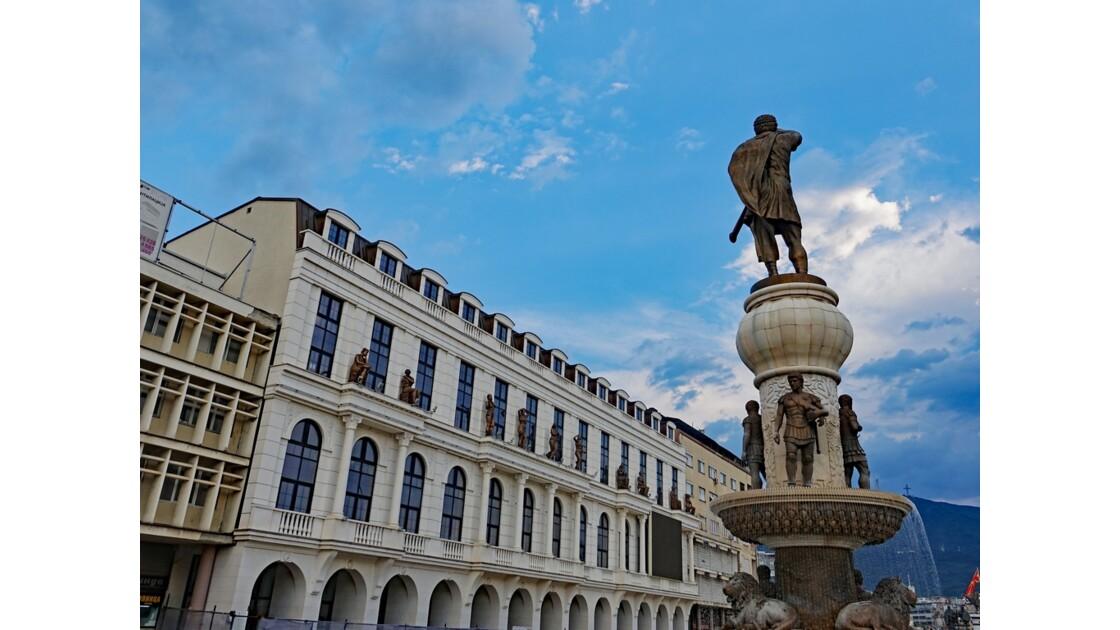 Macédoine Skopje Statue de Philippe II de Macédoine 2