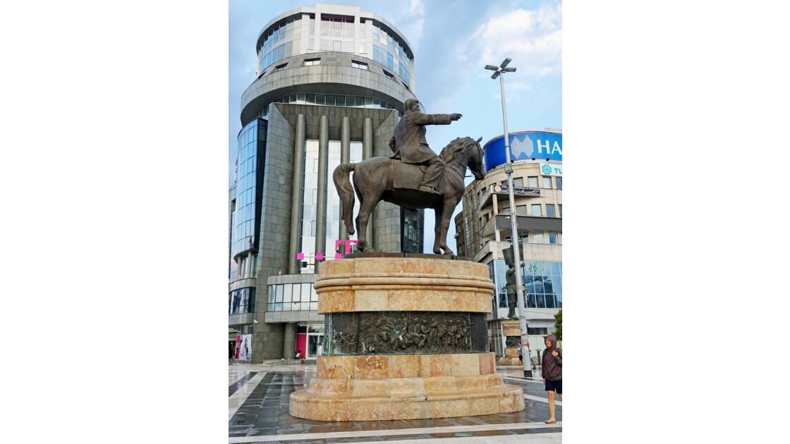 Macédoine Skopje Statue Goce Delčev