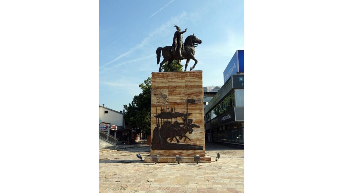 Macédoine Skopje Statue de Skanderbeg 2
