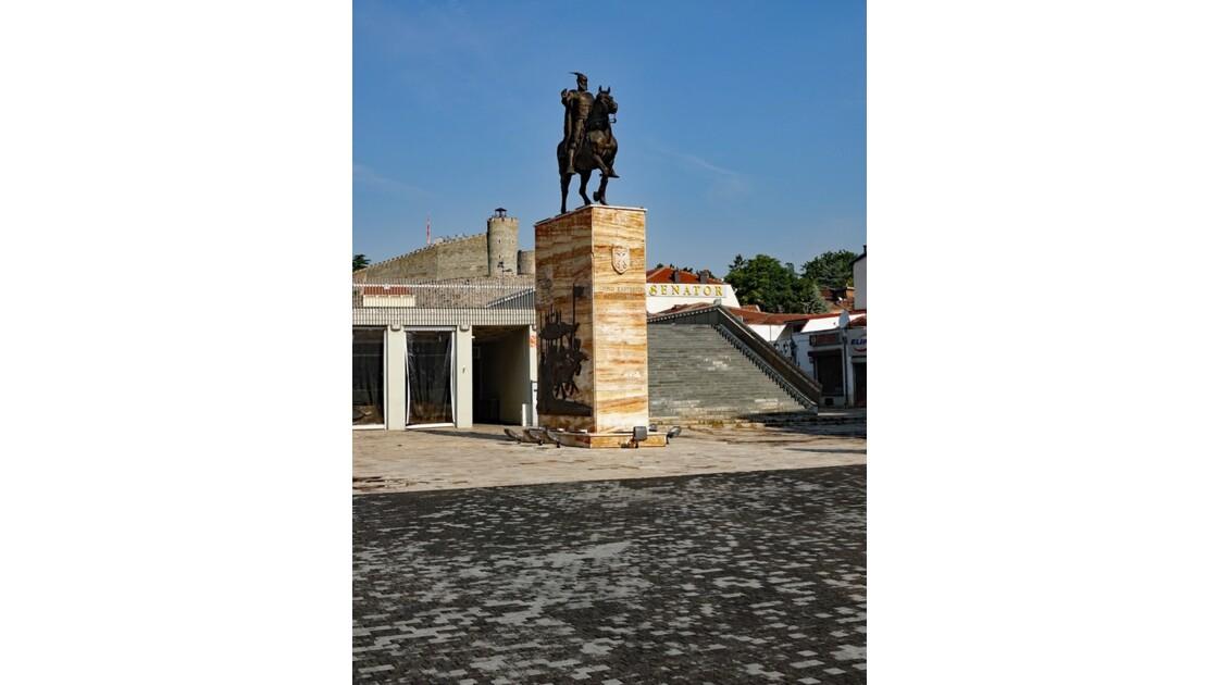 Macédoine Skopje Statue de Skanderbeg 3