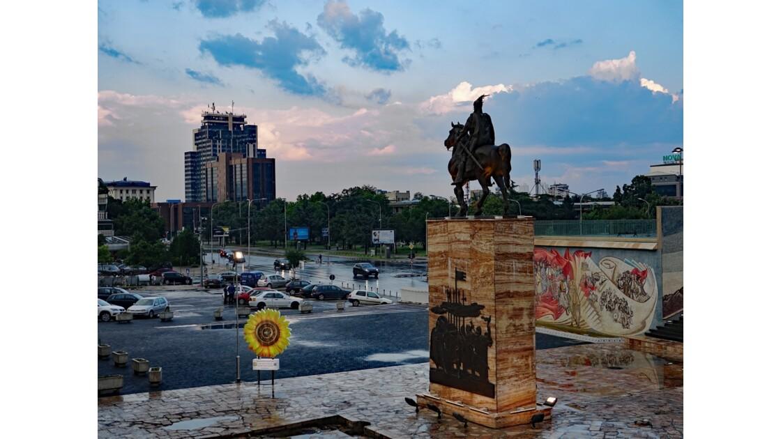 Macédoine Skopje Statue de Skanderbeg 6