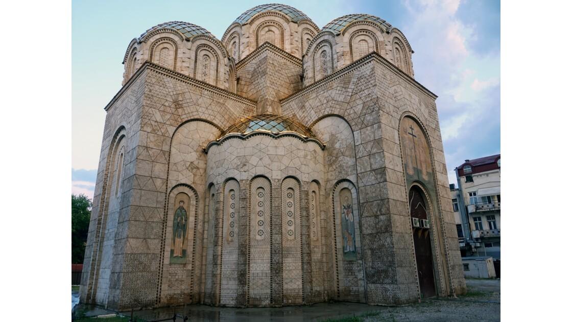 Macédoine Skopje Église orthodoxe des saints Constantin et Elena en construction 1