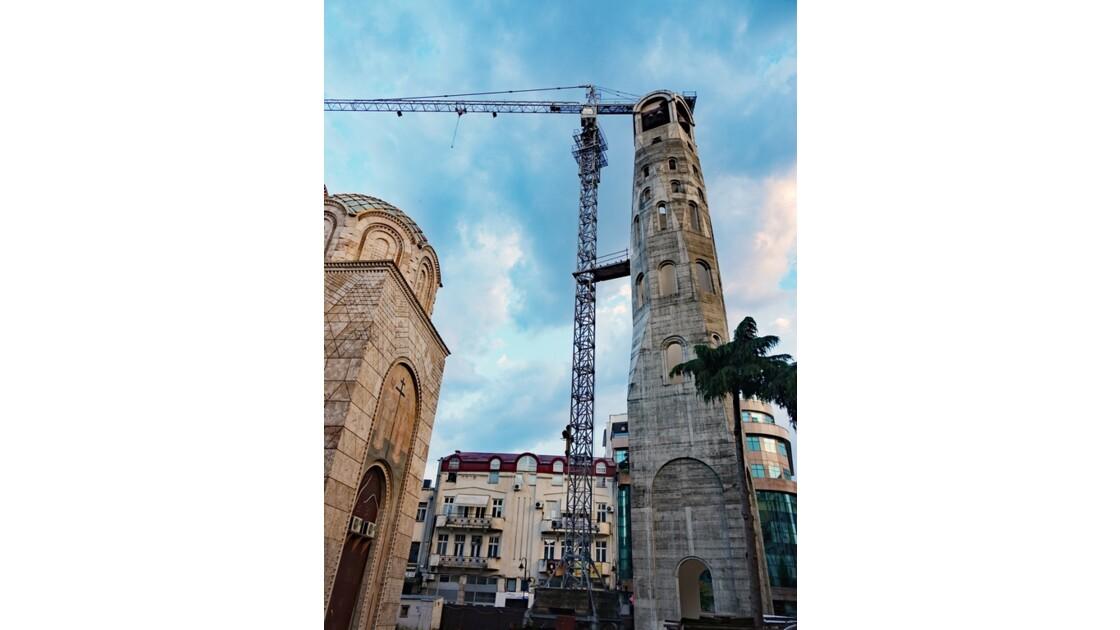 Macédoine Skopje Église orthodoxe des saints Constantin et Elena en construction 2