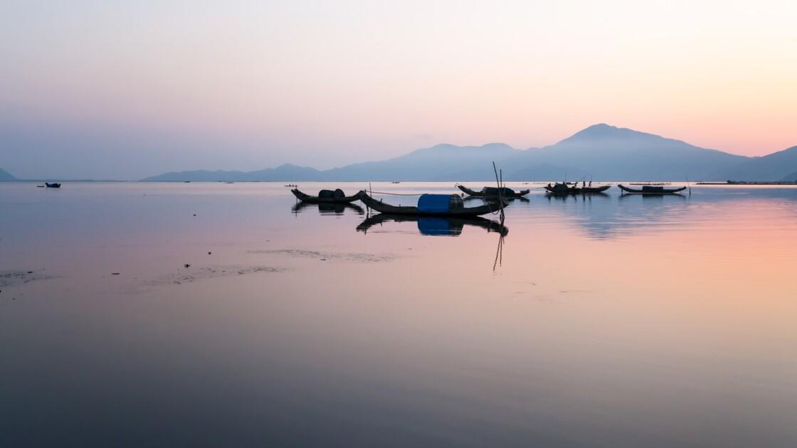 Petit matin calme sur la lagune