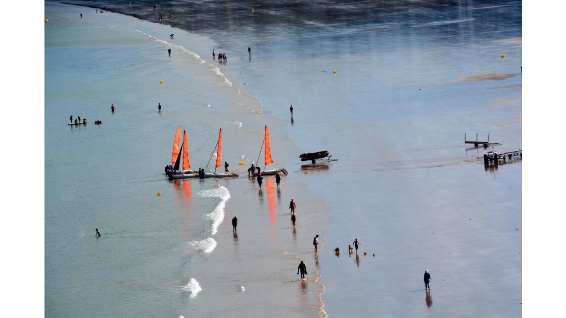 sur la plage Bretagne