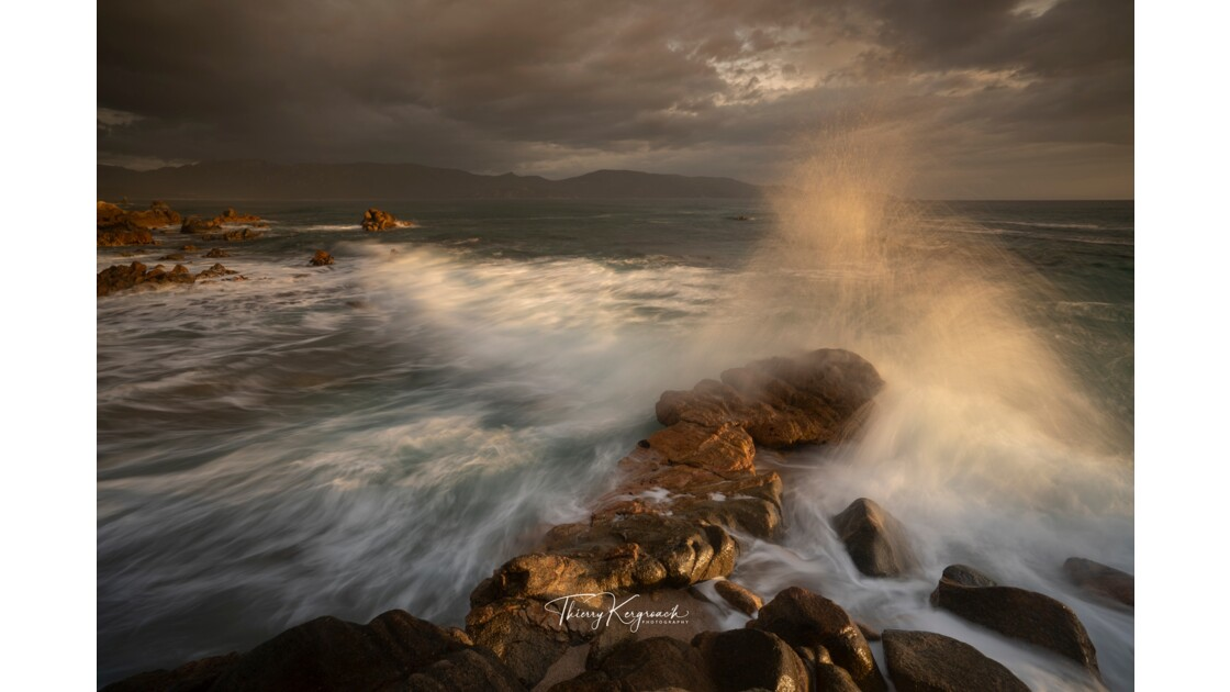 Derniers rayons du crépuscule, Valinco, Corse