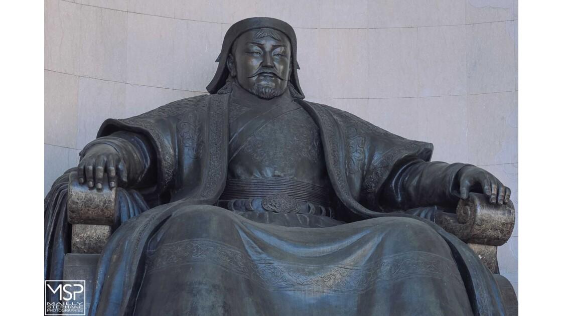 Mongolie - La place Gengis Khan à Oulan Bator