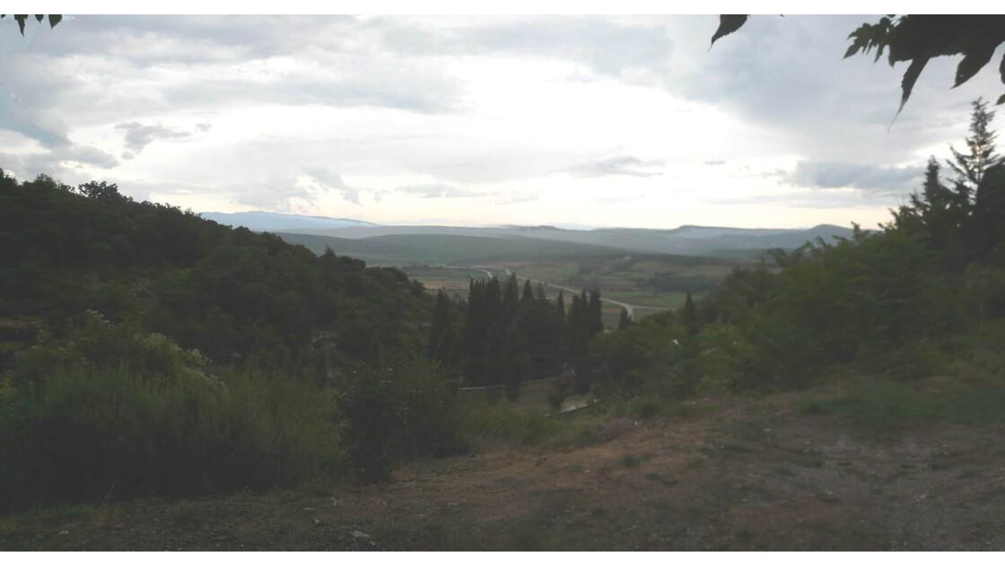 Panorama vu de Simiane la Rotonde