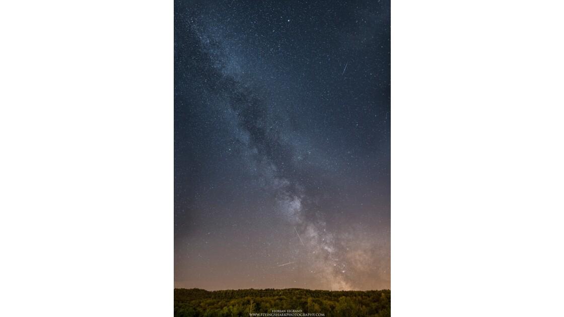 Perséides et Voie Lactée