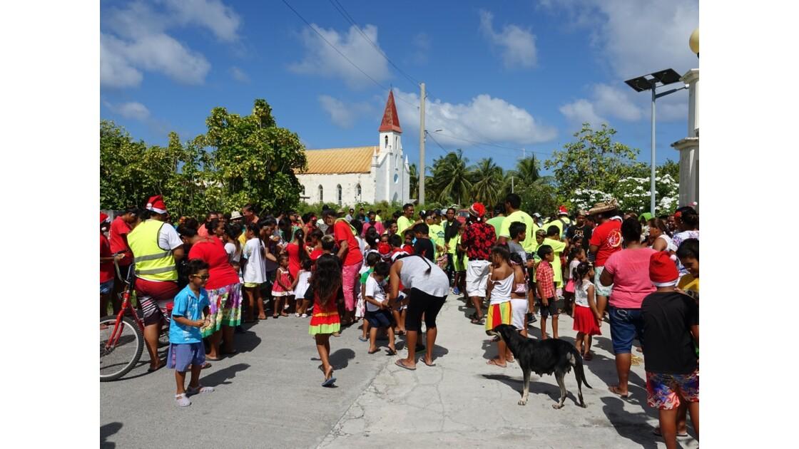 Tuamotu - Tiputa répétition de la fête de Noël4