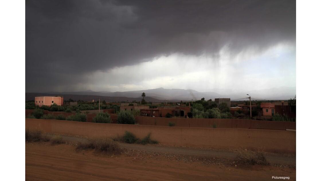 La tempête de sable au Maroc
