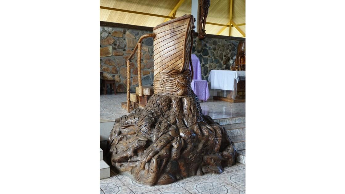 Les Marquises - Ua Pou Hakahau L'église St-Etienne La Chaire 2