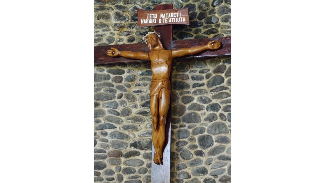 Les Marquises - Tahuata Vaitahu - Eglise Sainte Mère de Dieu - Crucifix 1