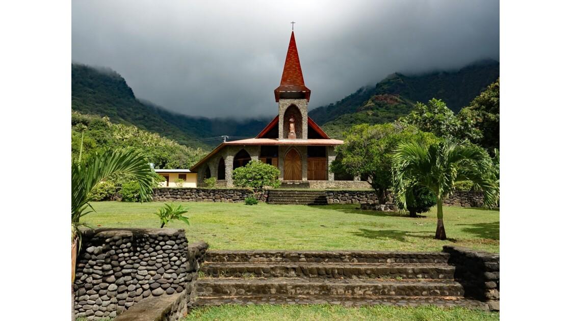 Les Marquises - Tahuata Vaitahu - Eglise Sainte Mère de Dieu 1