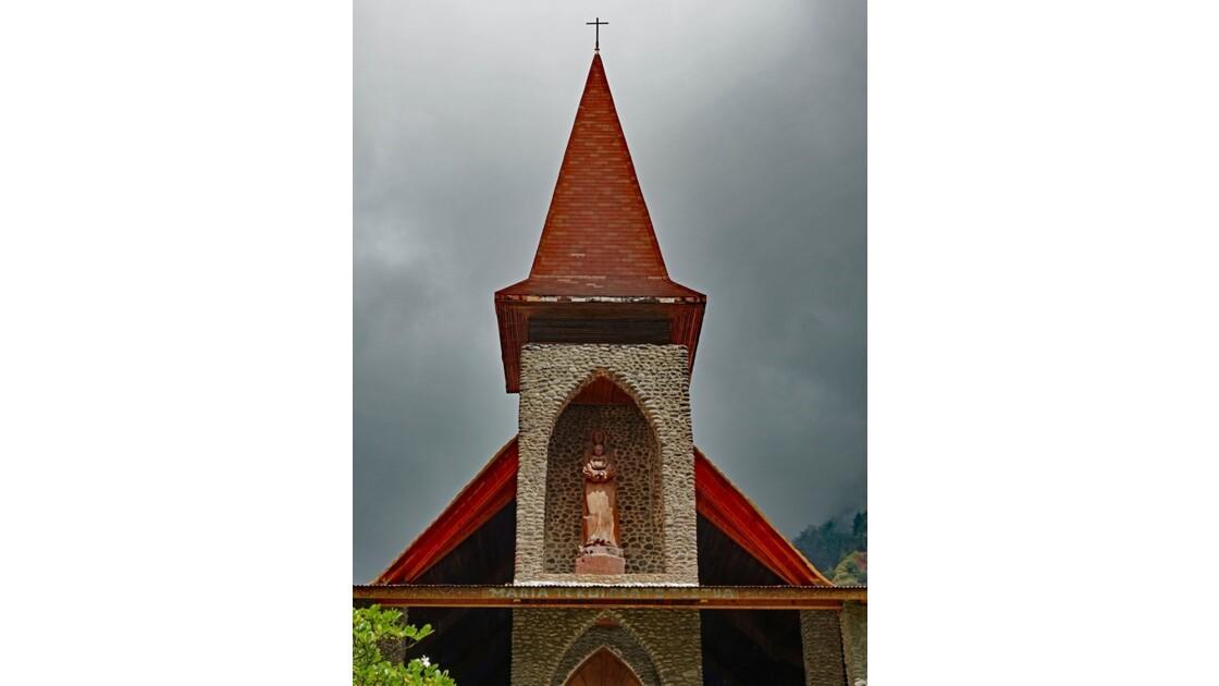 Les Marquises - Tahuata Vaitahu - Eglise Sainte Mère de Dieu La Vierge à l'enfant 1