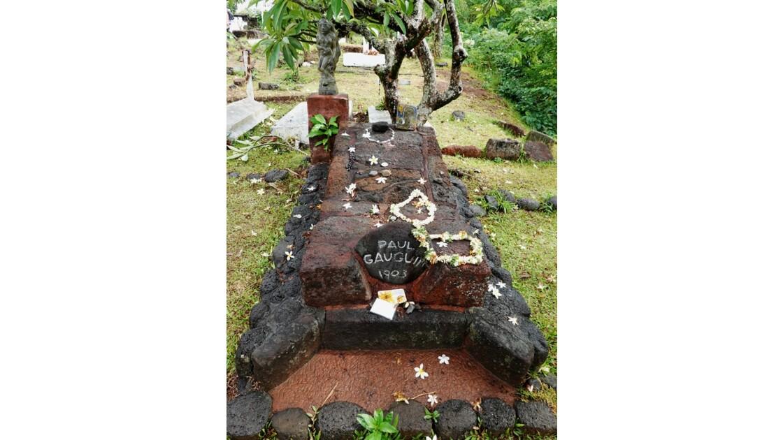 Les Marquises - Hiva Oa Atuona Cimetière du Calvaire Tombe de Gauguin 1