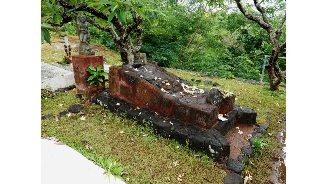 Les Marquises - Hiva Oa Atuona Cimetière du Calvaire Tombe de Gauguin 4