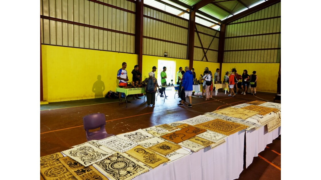Les Marquises Fatu Hiva Omoa tapas peints 3