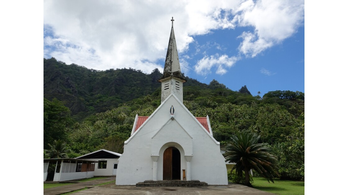 Les Marquises Fatu Hiva L'église d'Omoa 6