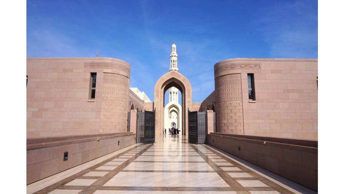 Entrée de la grande mosquée, mascate