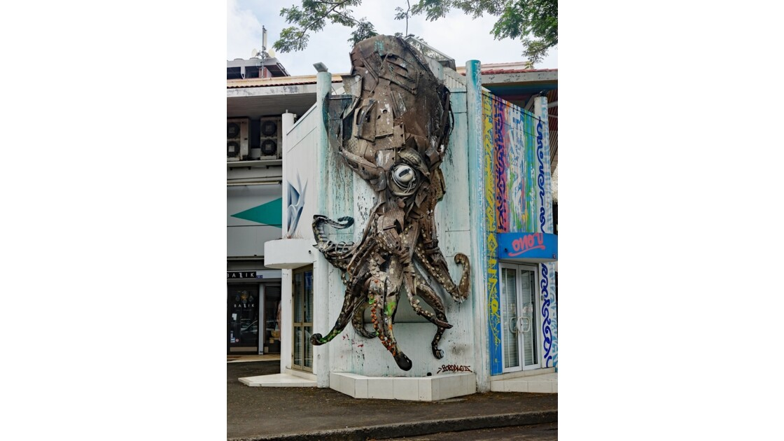 Tahiti Papeete Sculpture de rue