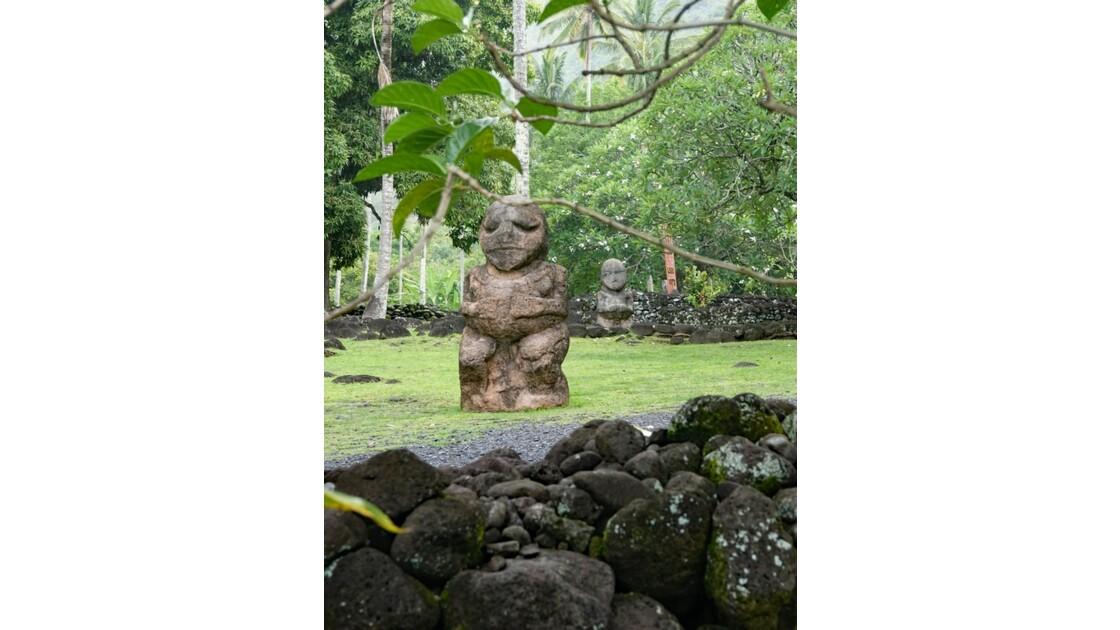 Tahiti Nui Papara Tiki du Marae Arahurahu 1