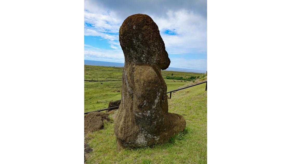 Ile de Pâques Rano Raraku Moai Tukuturi 1