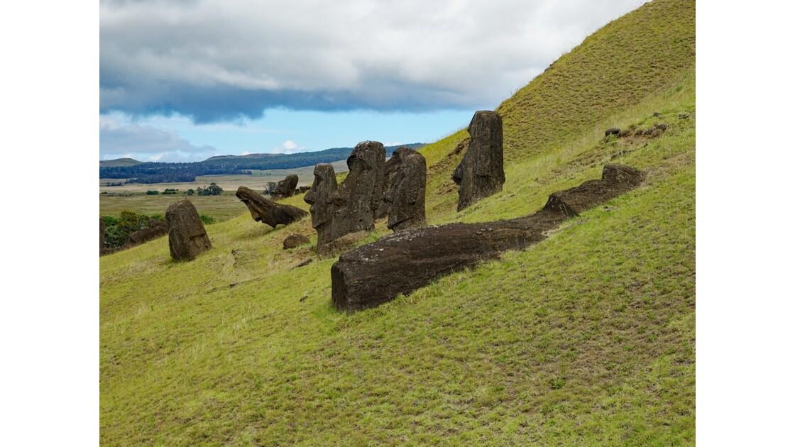 Ile de Pâques Rano Raraku Tête de Moai 5
