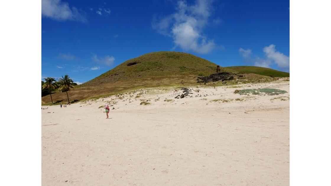 Île de Pâques Anakena Ahu Ature Huki Selfie
