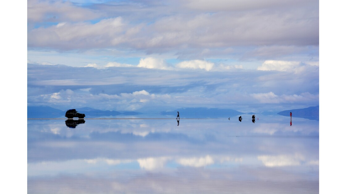 Lever de soleil Salar d'Uyuni Bolivie