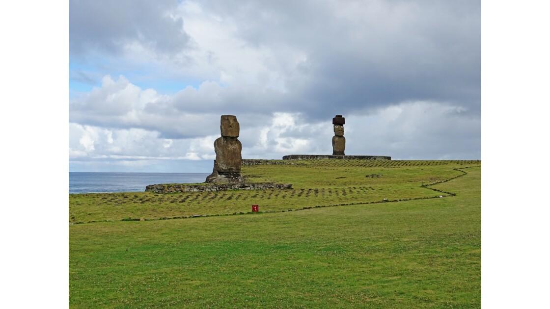 Île Pâques Ahu Tahai et Ahu Ko Te Riku 3