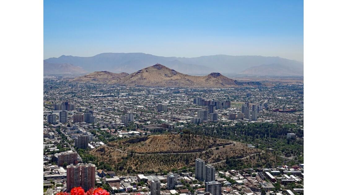 Chili Santiago Vue du Cerro San Cristobal 1