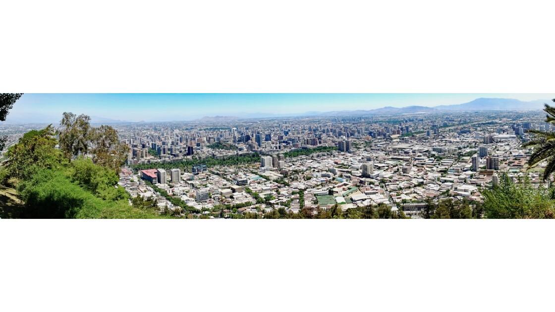 Chili Santiago Vue du Cerro San Cristobal 2