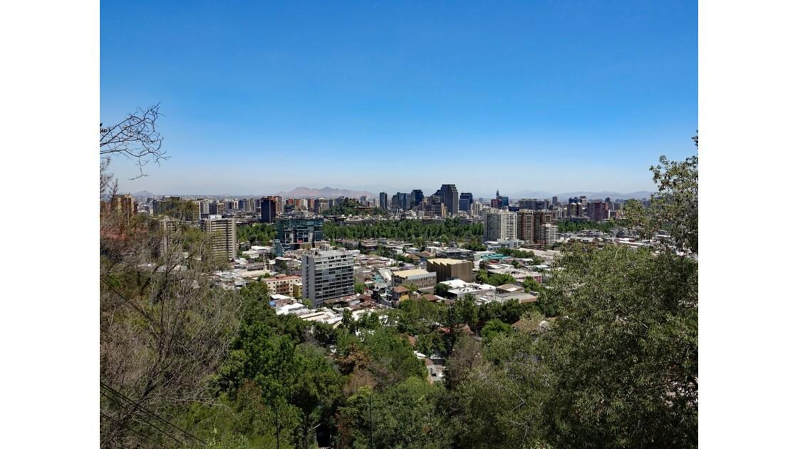 Chili Santiago Vue du Cerro San Cristobal 3