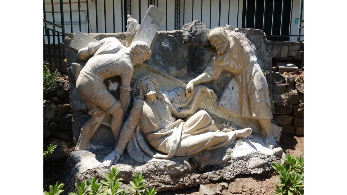 Chili Santiago Cerro San Cristobal Sculpture