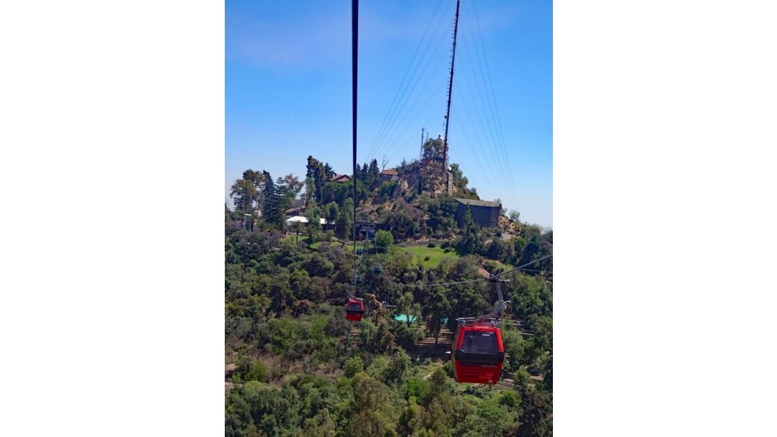 Chili Santiago Cerro San Cristobal Téléphérique