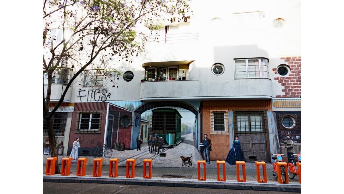 Chili Santiago Les murs du Quartier de Lastarria 3
