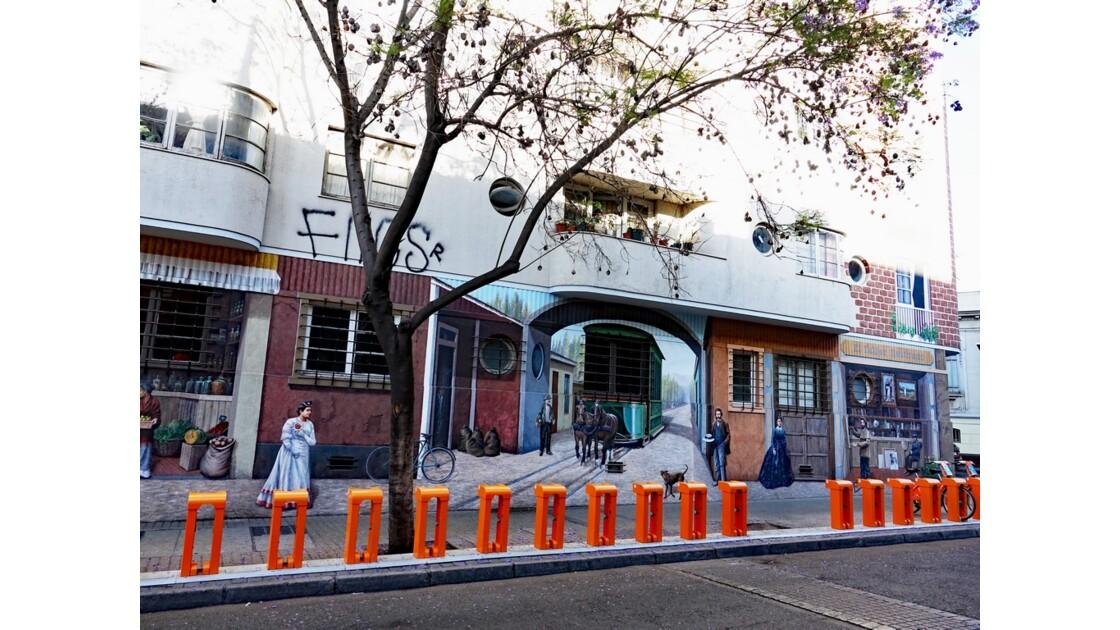 Chili Santiago Les murs du Quartier de Lastarria 4