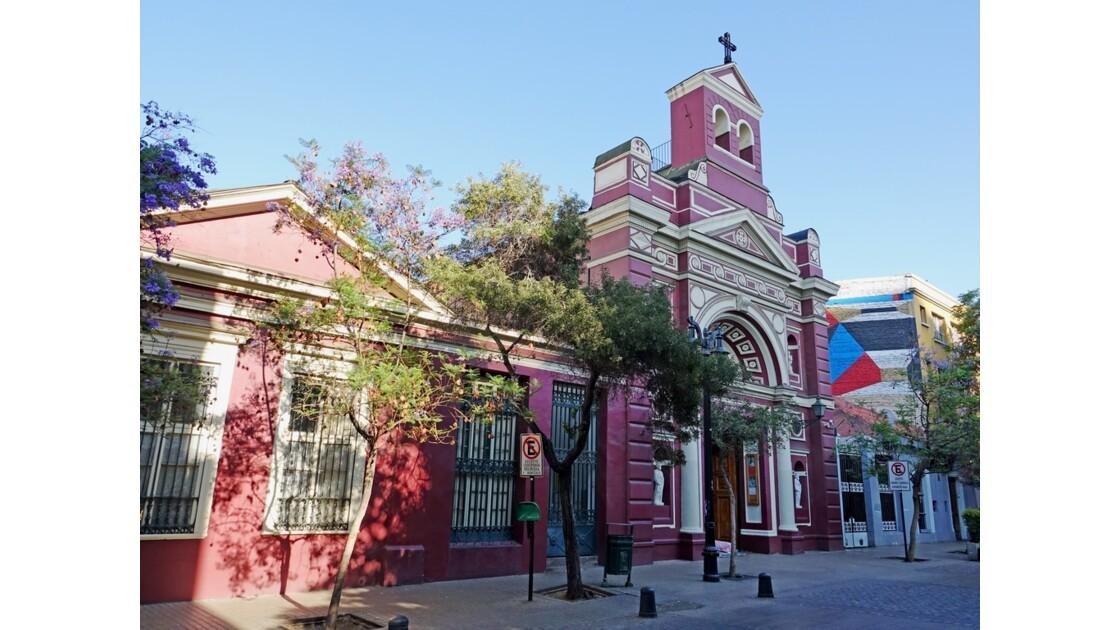 Chili Santiago Quartier de Lastarria Parroquia de la Vera Cruz 2