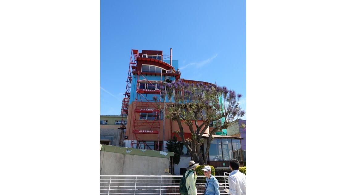 Chili Valparaiso La maison de Pablo Neruda en réfection 1