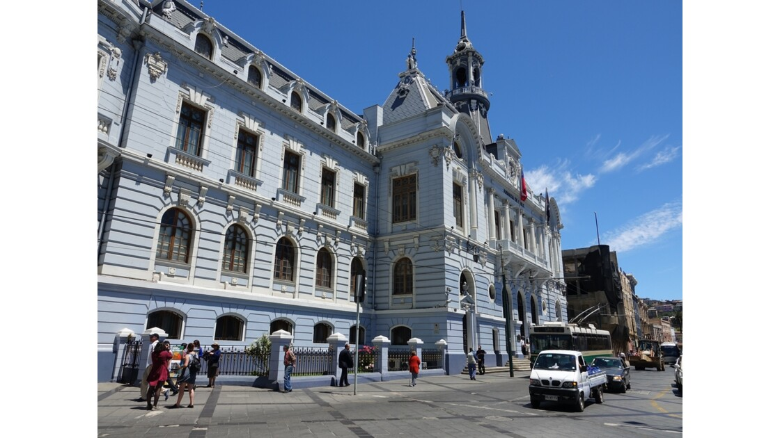 Chili Valparaiso Plaza Sotomayor Quartier général de la Marine 2