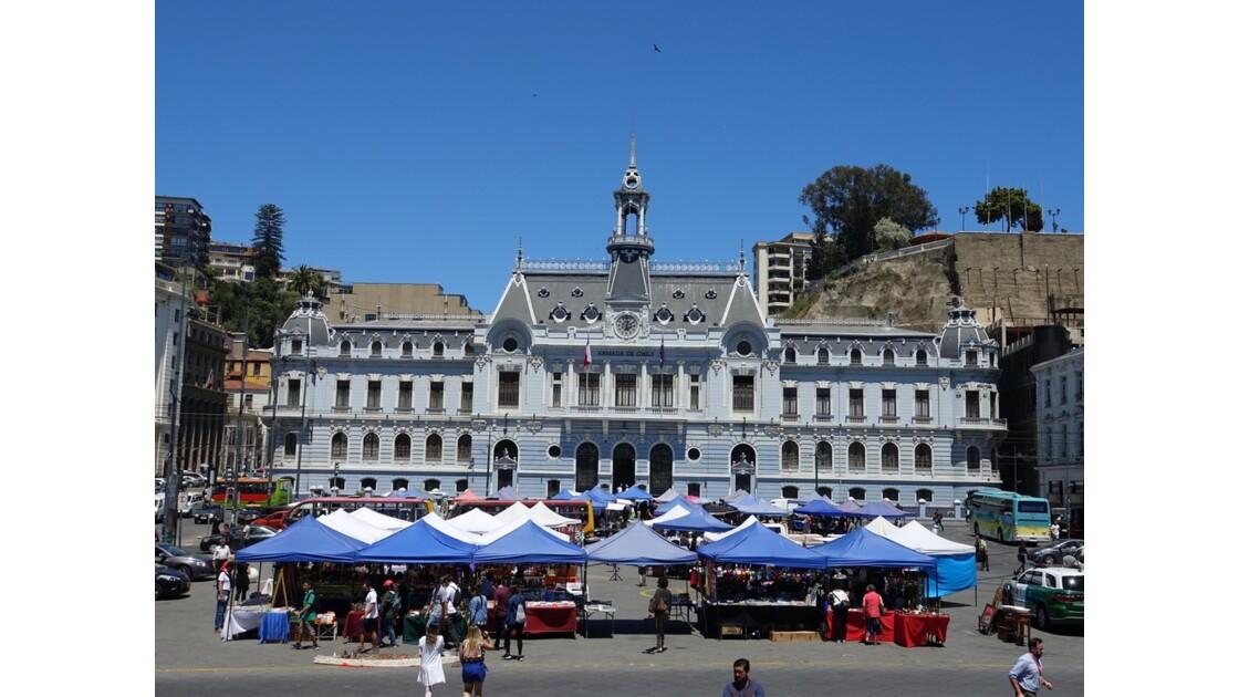 Chili Valparaiso Plaza Sotomayor Quartier général de la Marine 1